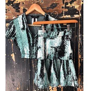 BCBGMAXAZRIA Matching Top & Skirt XS EXCELLENT